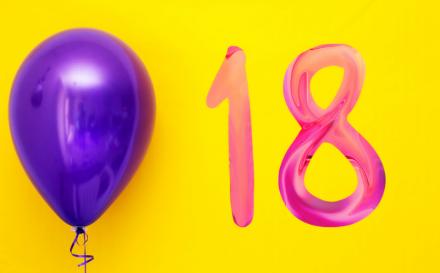 Banner 18. Geburtstag