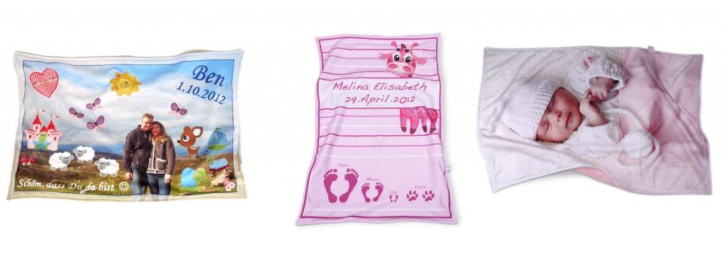 die besten baby geschenke drei verschiedene baby kuscheldecken als ausgefallene geschenke zur. Black Bedroom Furniture Sets. Home Design Ideas
