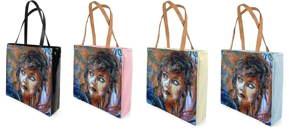 Shoppertasche mit Street Art London Foto in vier Farben
