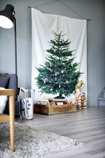 so kannst du weihnachtszauber auch in die kleinste wohnung bringen dein tannenbaum auf stoff. Black Bedroom Furniture Sets. Home Design Ideas