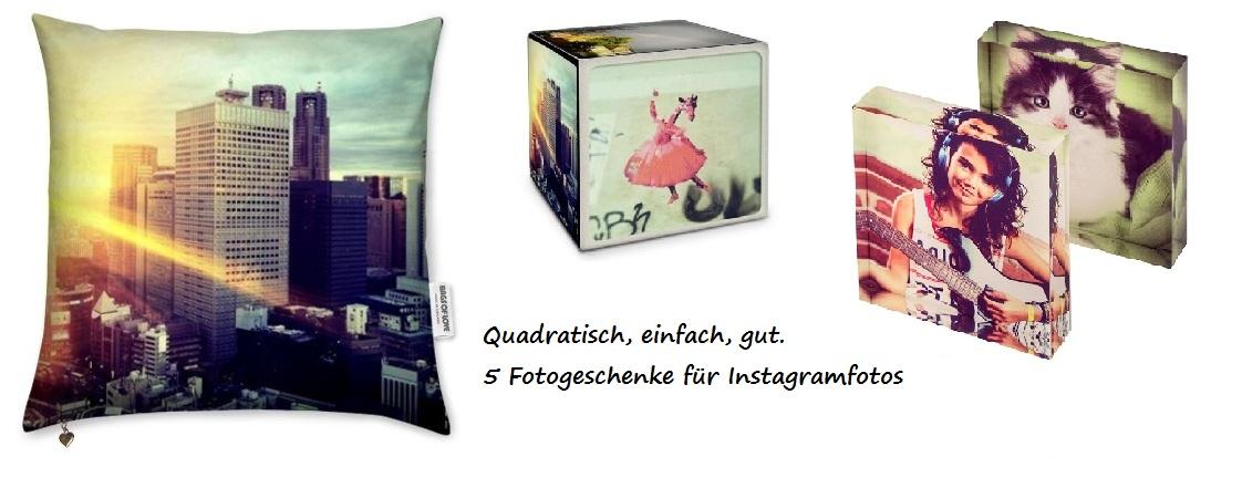 Instagramfotos auf verschiedenen Fotogeschenken