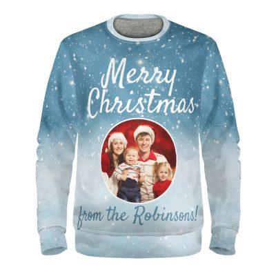 Familie Weihnachtspullover mit Fotos