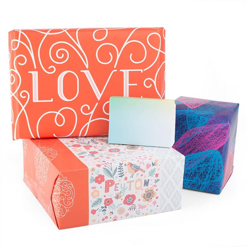 liebesbotschaft auf geschenkpapier drucken