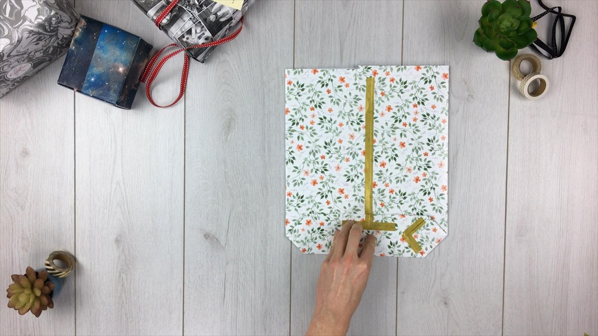 Geschenktüte basteln - Schritt 6