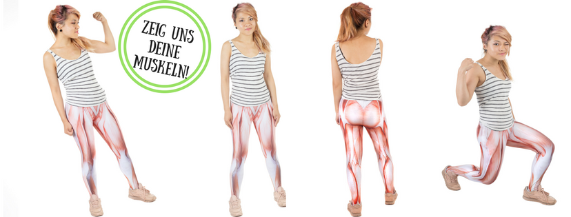 Muskel-Leggings - Originelle Fotogeschenke