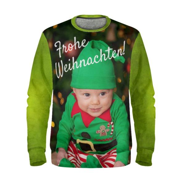 Weihnachtspullover mit babyfoto