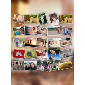 Fotocollage selbst gestalten mit Hintergrund