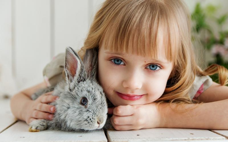 Vegane Geschenke Mädchen mit Hase