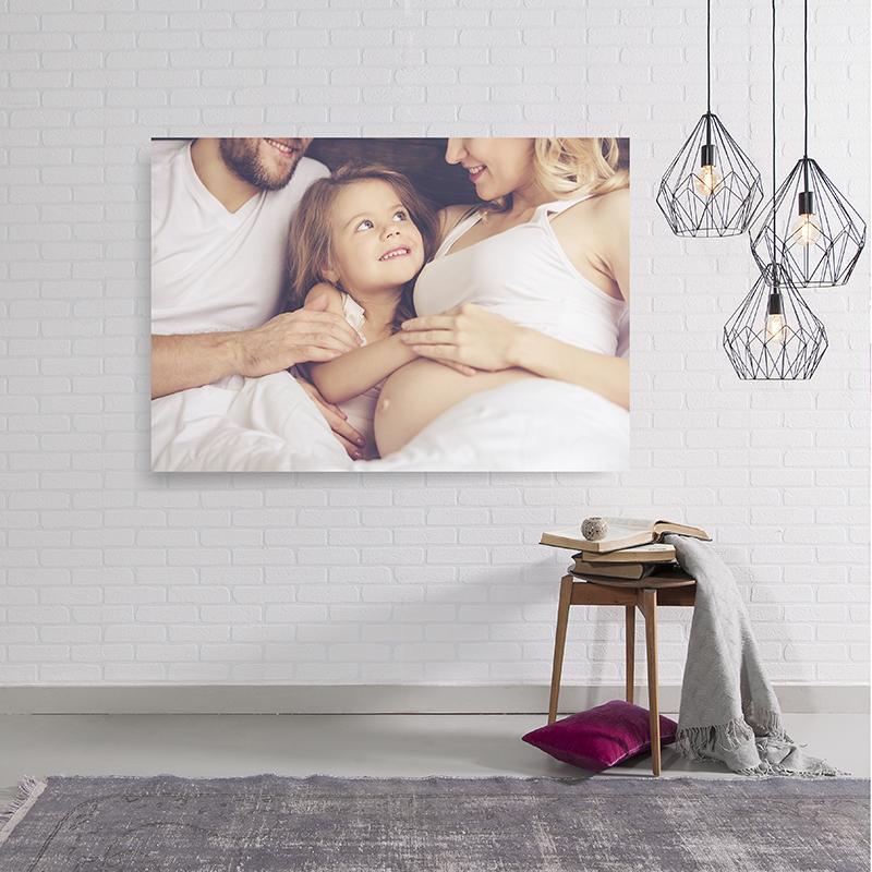 Fotoleinwand Familienfoto Schwangerschaft