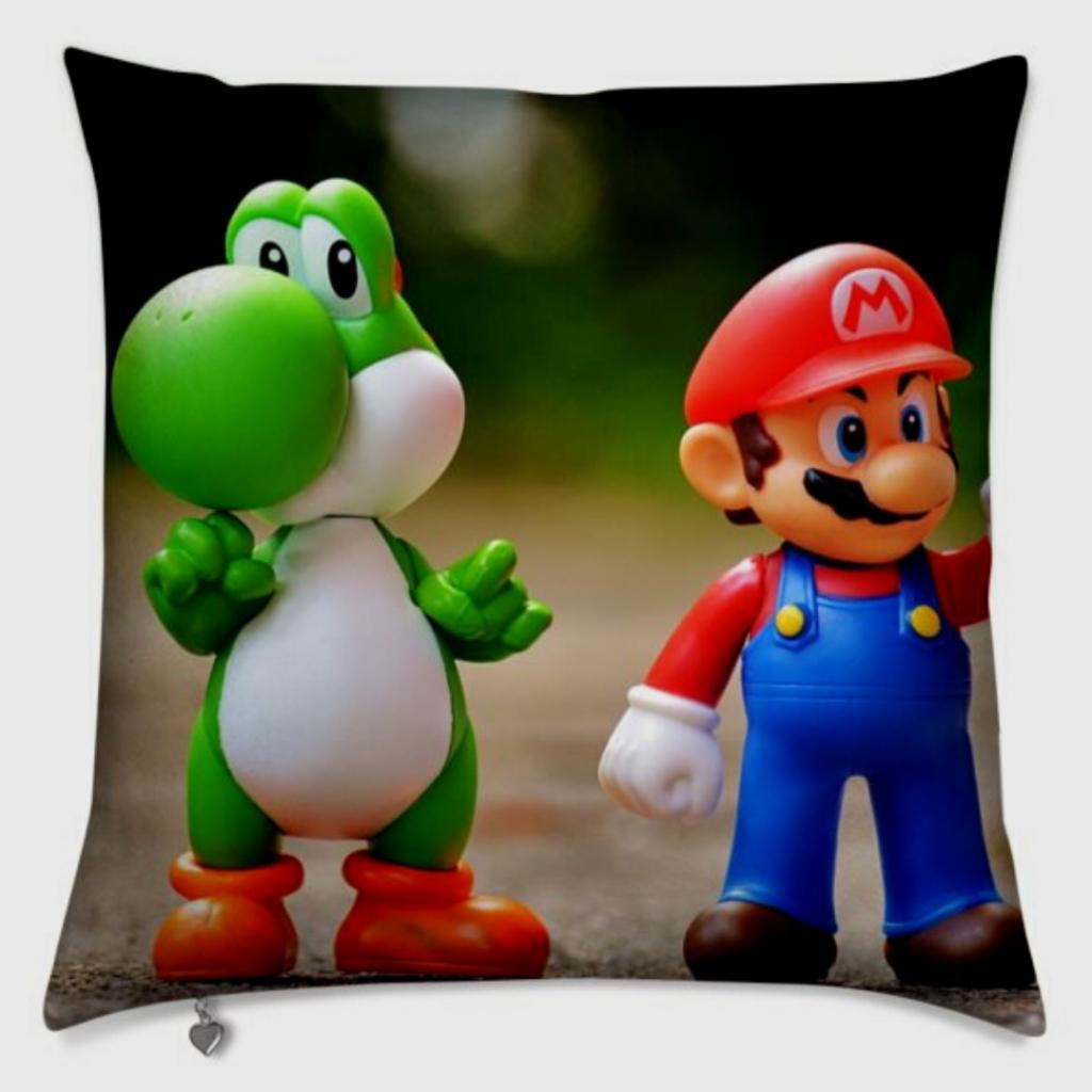 Kissen mit Cartoonfiguren