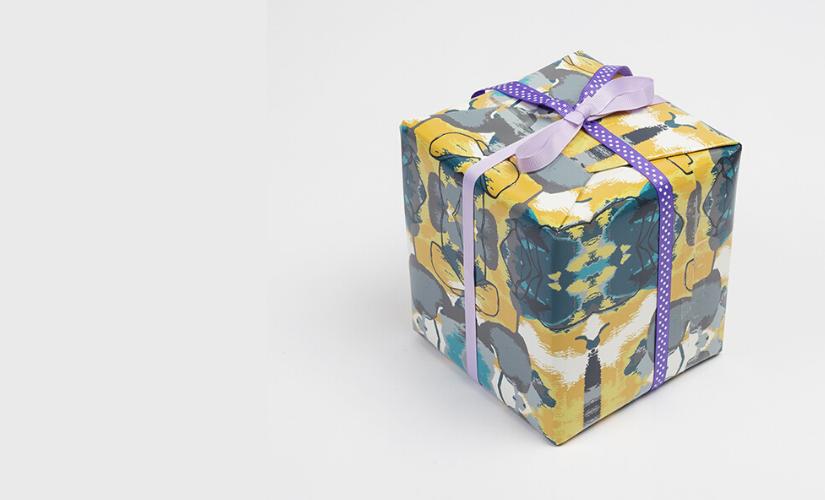 Geburtstagsgeschenk verpackt