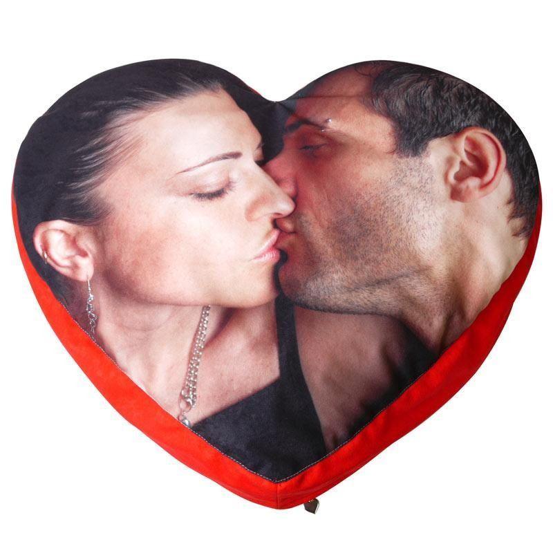 Herzkissen bedrucken, persönliches Kissen in Herzform
