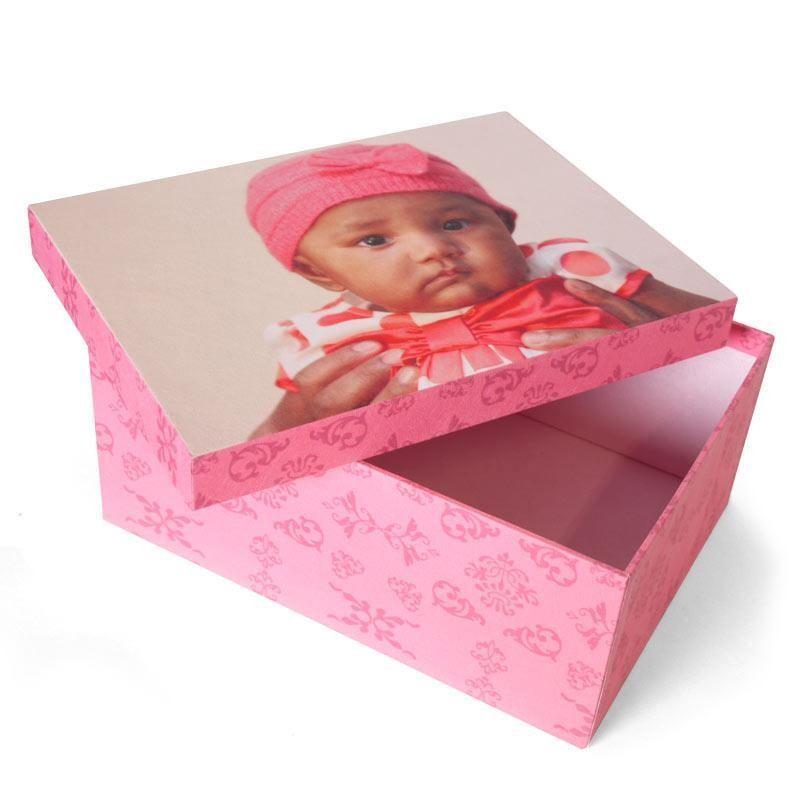 pers nliche fotobox ausgefallene aufbewahrungsbox mit. Black Bedroom Furniture Sets. Home Design Ideas