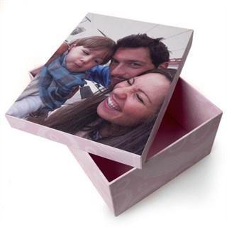 pers nliche fotobox ausgefallene aufbewahrungsbox mit deinem foto. Black Bedroom Furniture Sets. Home Design Ideas